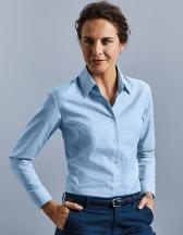 Ladies` Long Sleeve Oxford Shirt