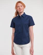Ladies` Short Sleeve Oxford Shirt